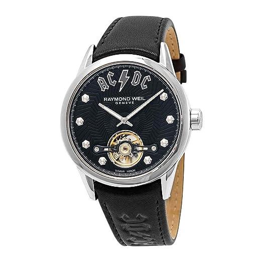 Reloj Automático Raymond Weil Freelancer AC/DC Limited Edition, 42 mm, Negro: Amazon.es: Relojes
