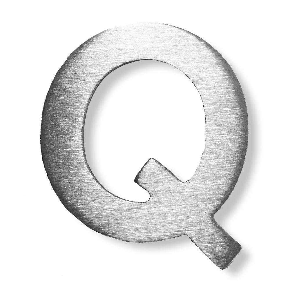/Acero inoxidable cepillado con 3/M Your Design/ /4/cm de altura Metal Letra Q/
