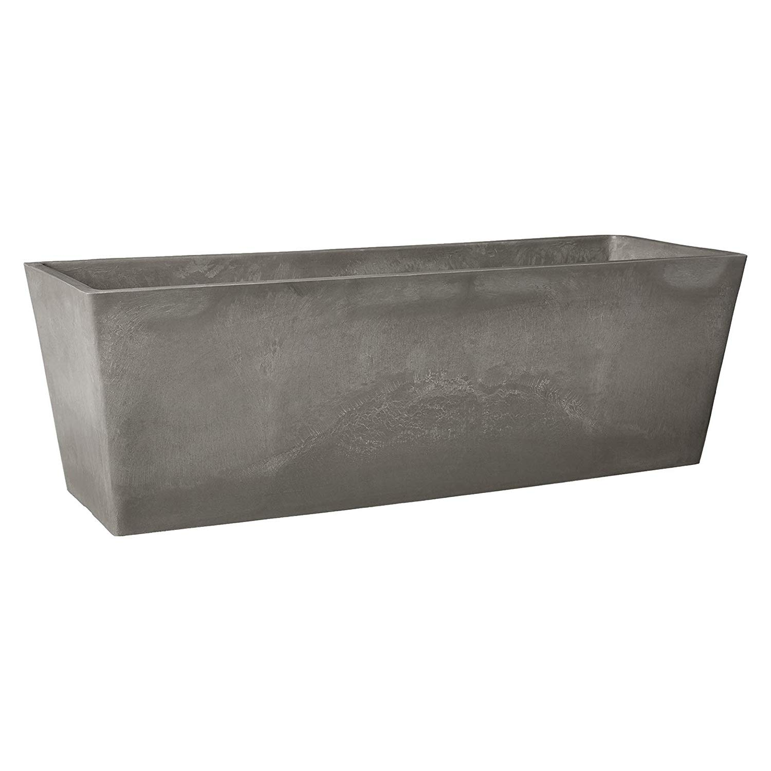 "Arcadia Garden Products PSW U45CT Simplicity Window Box, 17.5"" x 7"" x 6"", Cement Color"