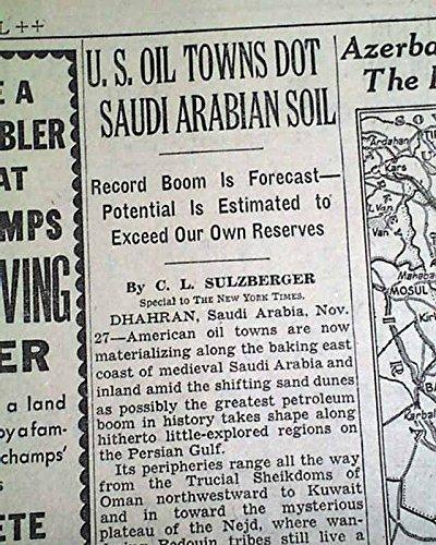 Amazon com: SAUDI ARABIA OIL BOOM Dhahran Aramco & Standard