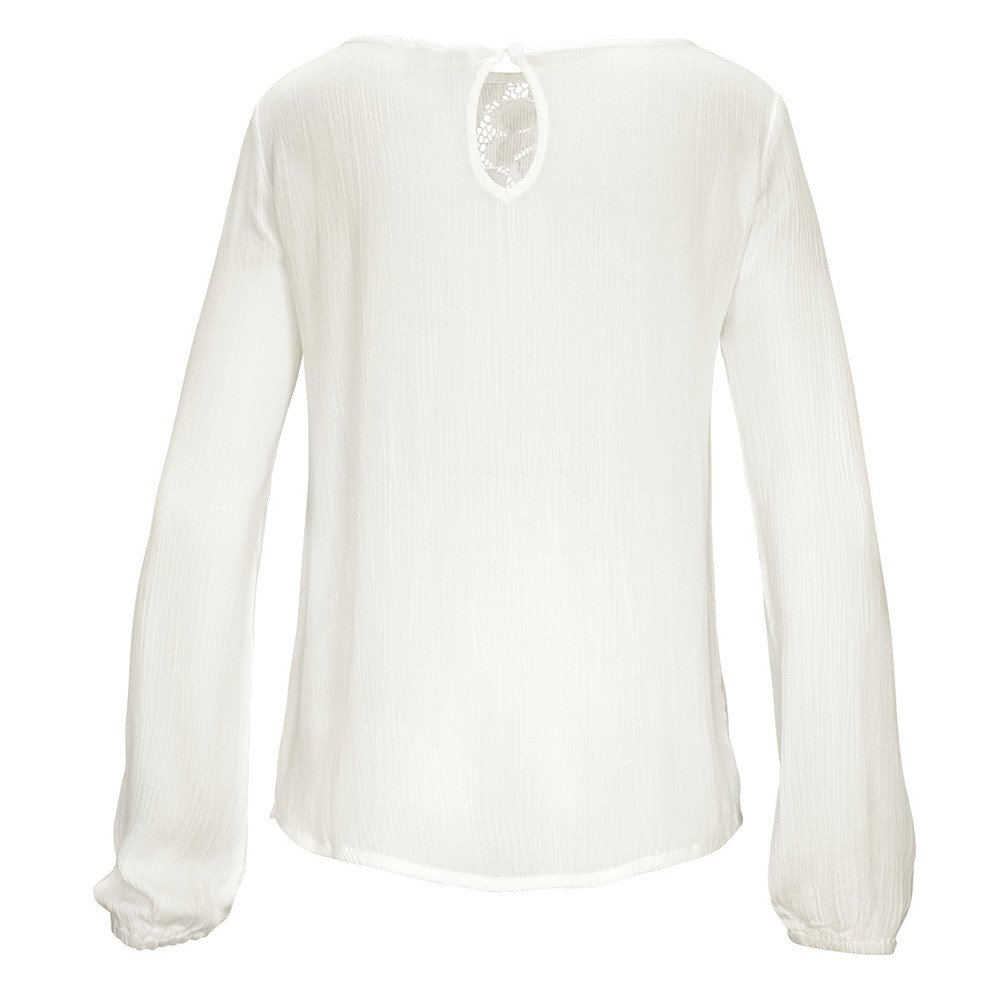 Randolly Womens Shirt,Ladies Casual Long Sleeve Lace Patchwork Tops Blouse