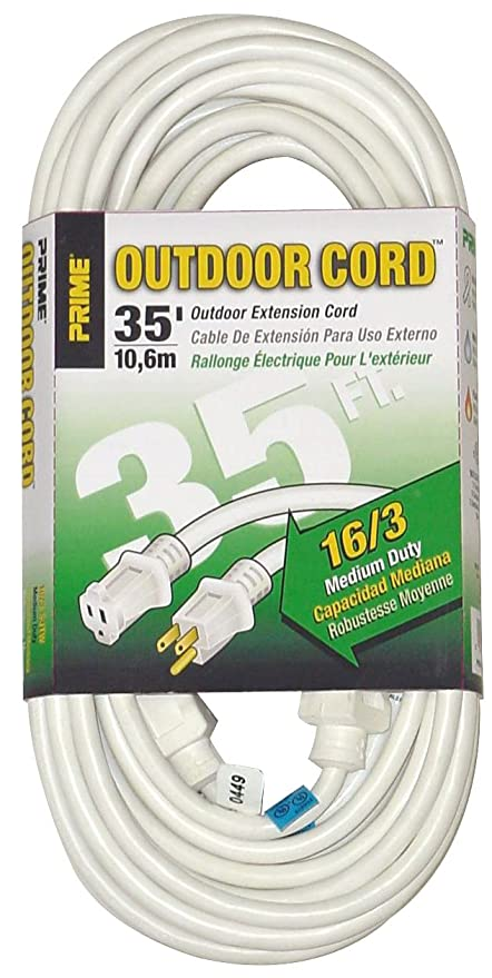 Prime Wire & Cable EC883627 35-Foot 16/3 SJTW Patio and Deck ...