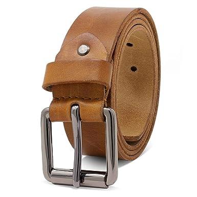 2a4712b58f0 ROYALZ Vintage ceinture en cuir de buffle pour homme robuste de 4mm ...