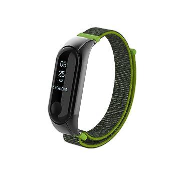 Beetest A Pulsera Xiaomi Mi Band 3 Correa de Reloj Elegante Reemplazo de Bandas para Mi Band 3-Lienzo de Bucle de Moda(Amarillo): Amazon.es: Deportes y aire ...