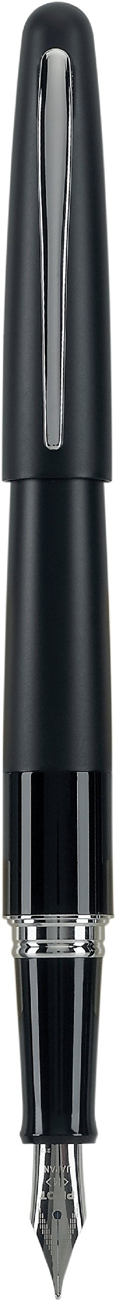 PILOT Metropolitan Collection Fountain Pen, Black Barrel, Classic Design, Fine Nib, Black Ink (91111)