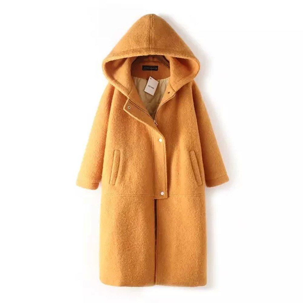Pugaomsiw außenhandel Kleid in den Langen Winter vermummte langärmelige locker Baumwolle Fell dick - Clip,s,ingwer