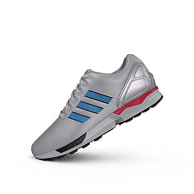 3ebc5af749e83 adidas Mens Originals Mens ZX Flux Trainers in Silver - UK 12.5 ...