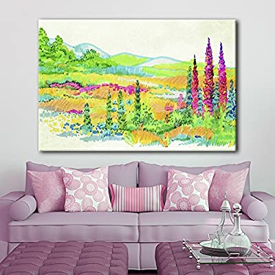 Bright Color Painting Spring Valley