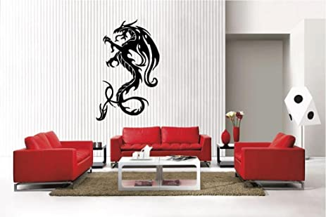 Amazon.Com: Newclew Dragon Removable Vinyl Wall Decal Home Décor