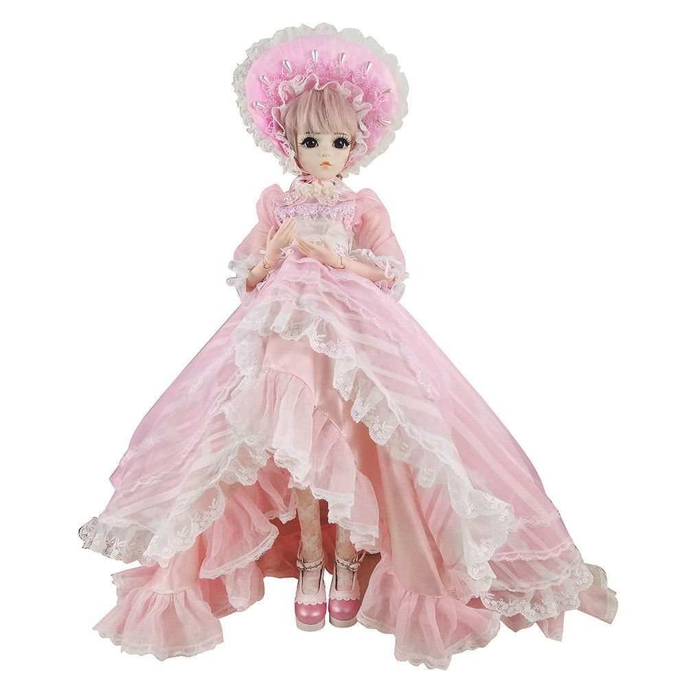 Anne BJD Doll Set 1/3 60cm 24 inch 19 ball jointed dolls Surprise Toy For Girl Gift