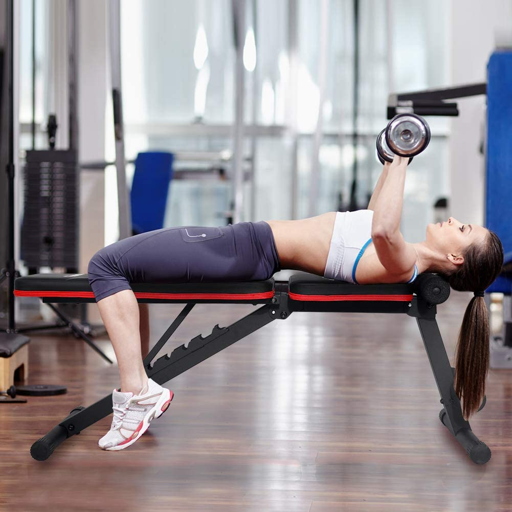 PASYOU Adjustable Full Body Exercise Workout Bench for Home Gym