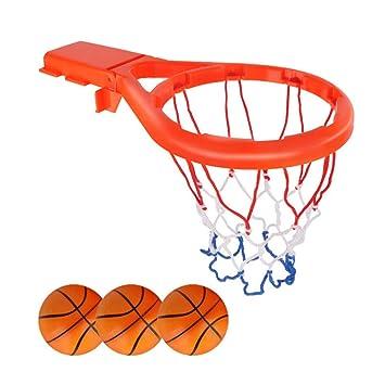 LIOOBO 1 unid Juego de Baloncesto Mini aro de Baloncesto con 3 ...