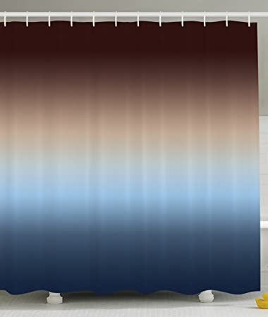 Ombre Shower Curtain By Ambesonne, Home Decorations Art Bathroom Decor, 70  Inches Long,