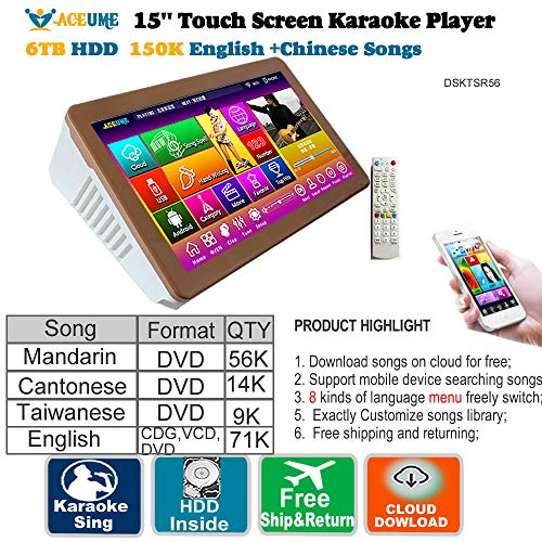 5TB HDD,95K Touch Screen Karaoke Player,Chinese+English+Japanese for sale  Delivered anywhere in Canada