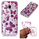 Aipyy Galaxy S8 Plus Case,Transparent Pattern Soft TPU material back cover case for Samsung Galaxy S8 Plus 6.2''-Butterfly