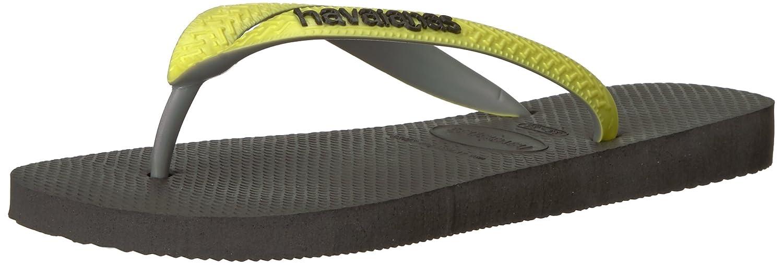 6c806a16f06 Havaianas Women s Top Mix Sandal Black Neon Yellow  Amazon.co.uk  Shoes    Bags