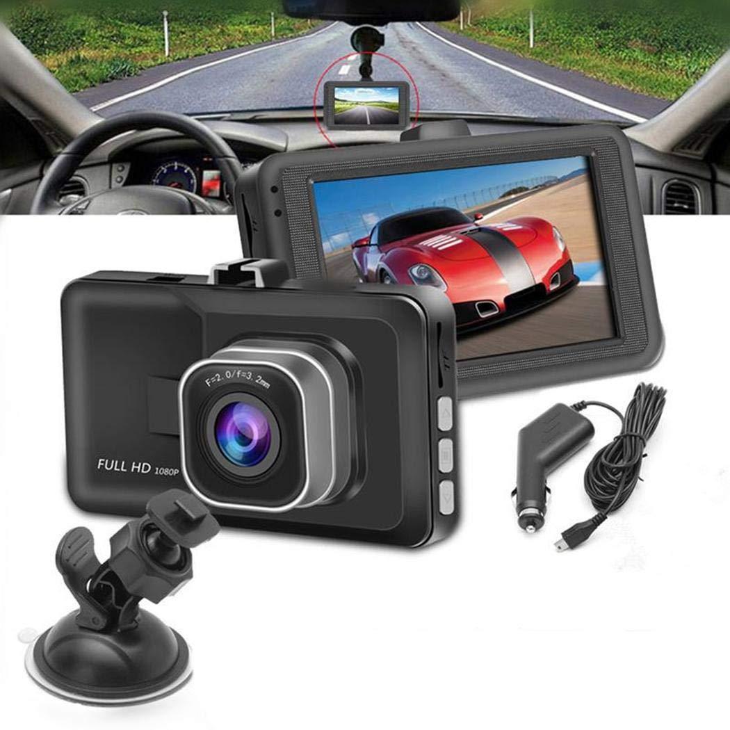 cietact Full HD 1080P Autokamera Video Recorder mit 170/° Weitwinkelobjektiv 3 Zoll LCD-Bildschirm Nachtsicht und G-Sensor WDR Bewegungserkennung Loop-Aufnahme Parkmonitor