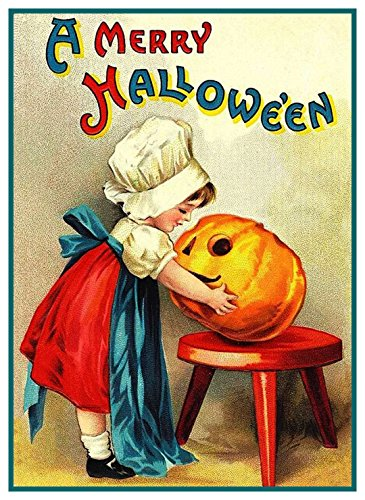 Orenco Originals Little Girl Pumpkin Halloween Counted Cross Stitch Pattern ()