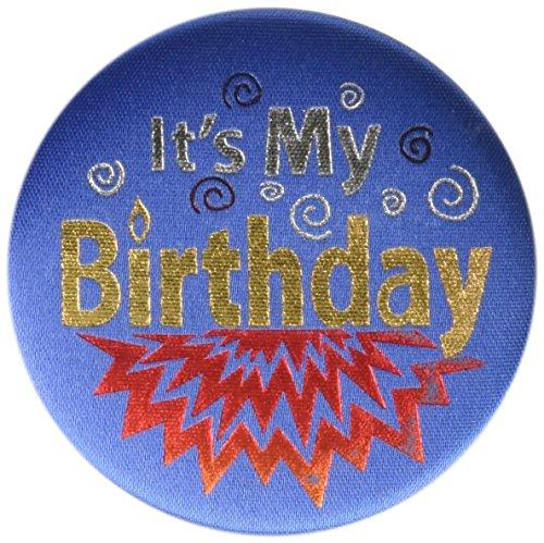 Beistle BN192 It's My Birthday Satin Button (Blue 2