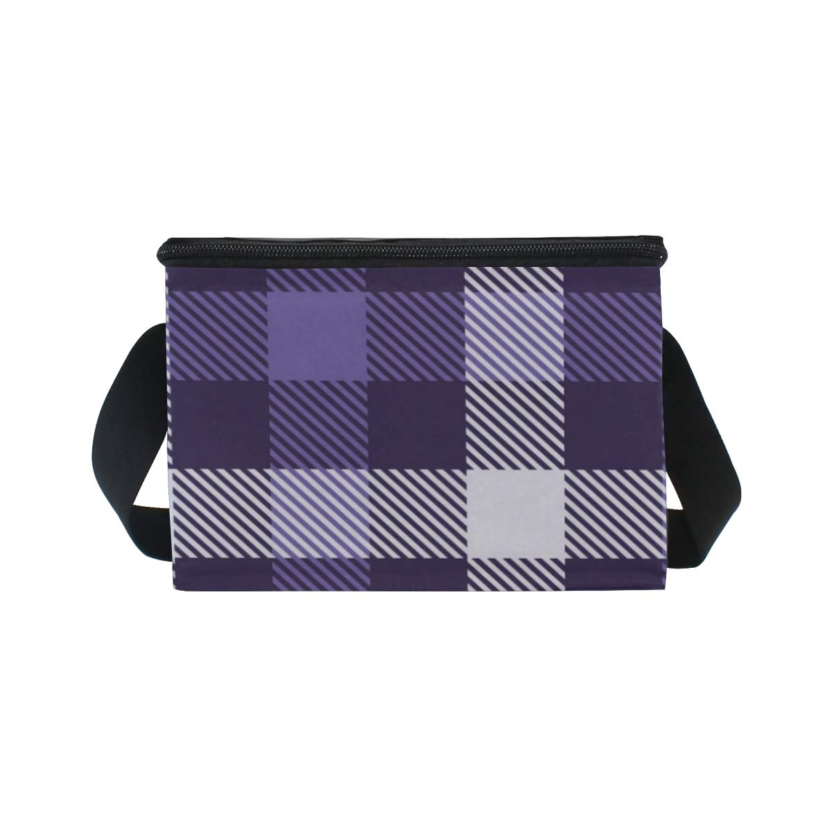 ab9c5ab9db53 Amazon.com: Anmarco Purple Plaid Checked Insulated Lunch Bag Lunch ...