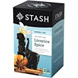 Stash Tea Licorice Spice Herbal Tea, 20 Count Box of Tea Bags Individually Wrapped in Foil (packaging may vary), Naturally Sweet Herbal Tisane, Zero Caffeine, Drink Hot or Iced