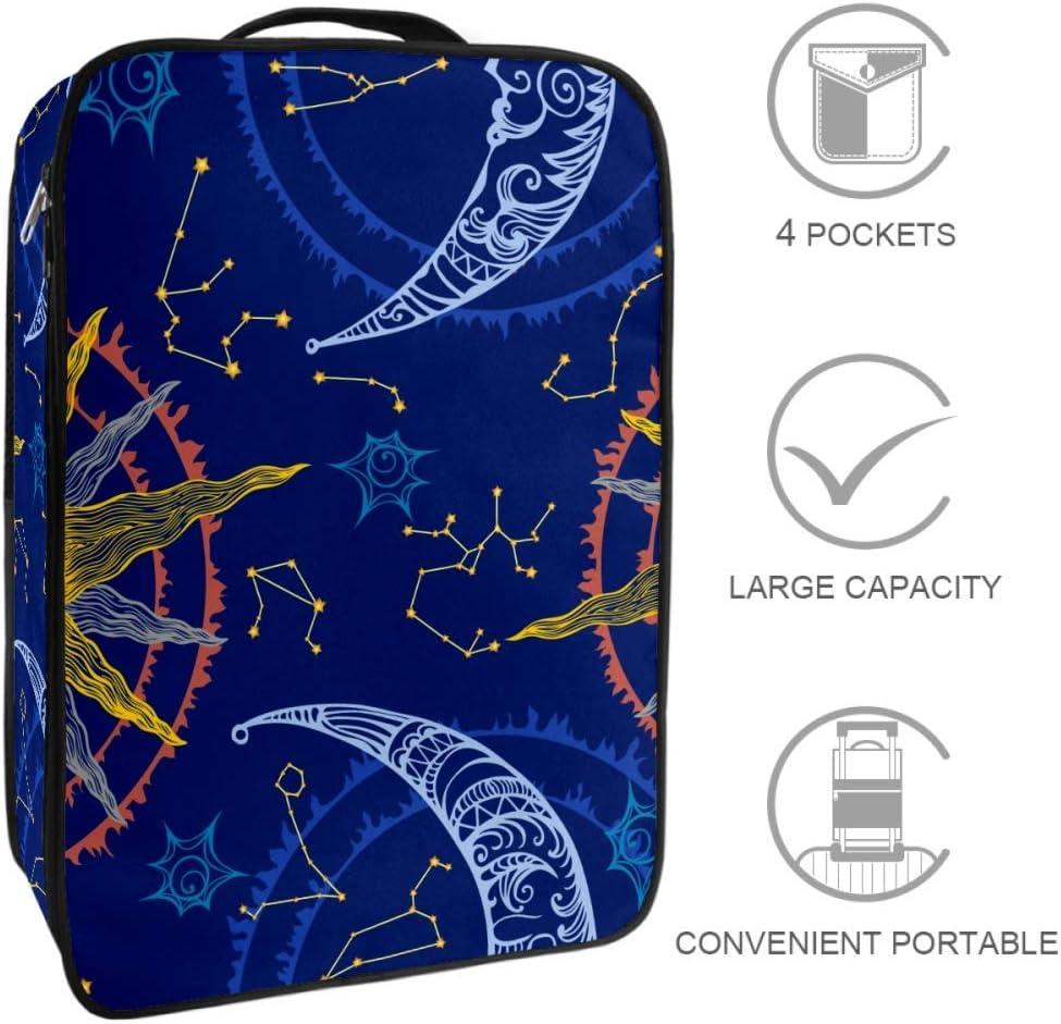 TIZORAX Sun Moon And Zodiac - Bolsa de almacenamiento para zapatos de viaje, multifuncional, portátil