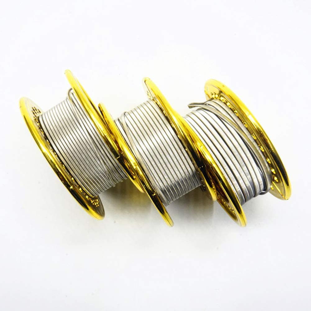 Round,No Nicotine 3 * 26G+36G 15 Feet Ni80 Fused Clapton Wire Vapethink Resistance Heating Coils,2//3//4 Core AWG 2 * 26G+36G A1,Parallel+36GA Ni80
