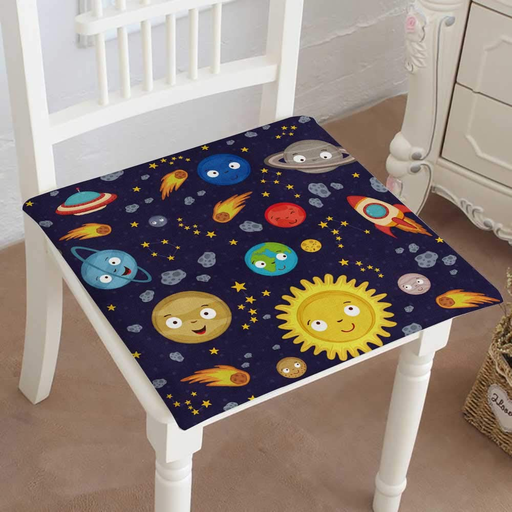 Mikihome Classic Decorative Chair pad Seat Solar System Vector eps Cushion with Memory Filling 30''x30''x2pcs