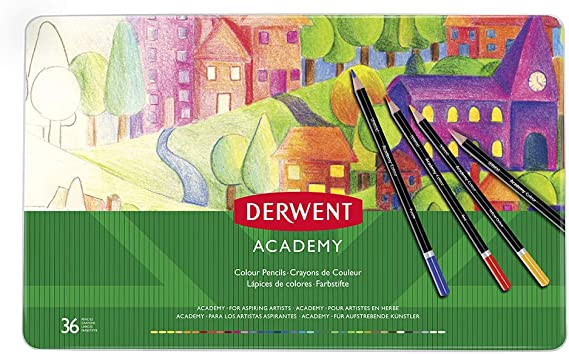 Pack of 12 Coloured Pencils by Derwent Academy Made in UK at cost price