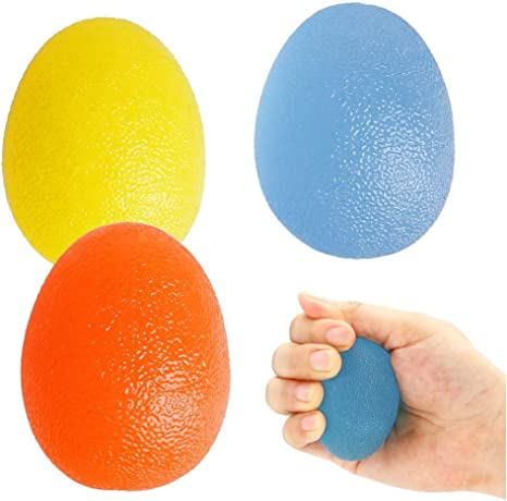 nuosen 3PCS Gel Hand Balls,Hand Therapy Squeeze Exercise Stress Balls Finger Wrist for Arthritis Hand,Finger,Grip Strengthening and Stress Relief