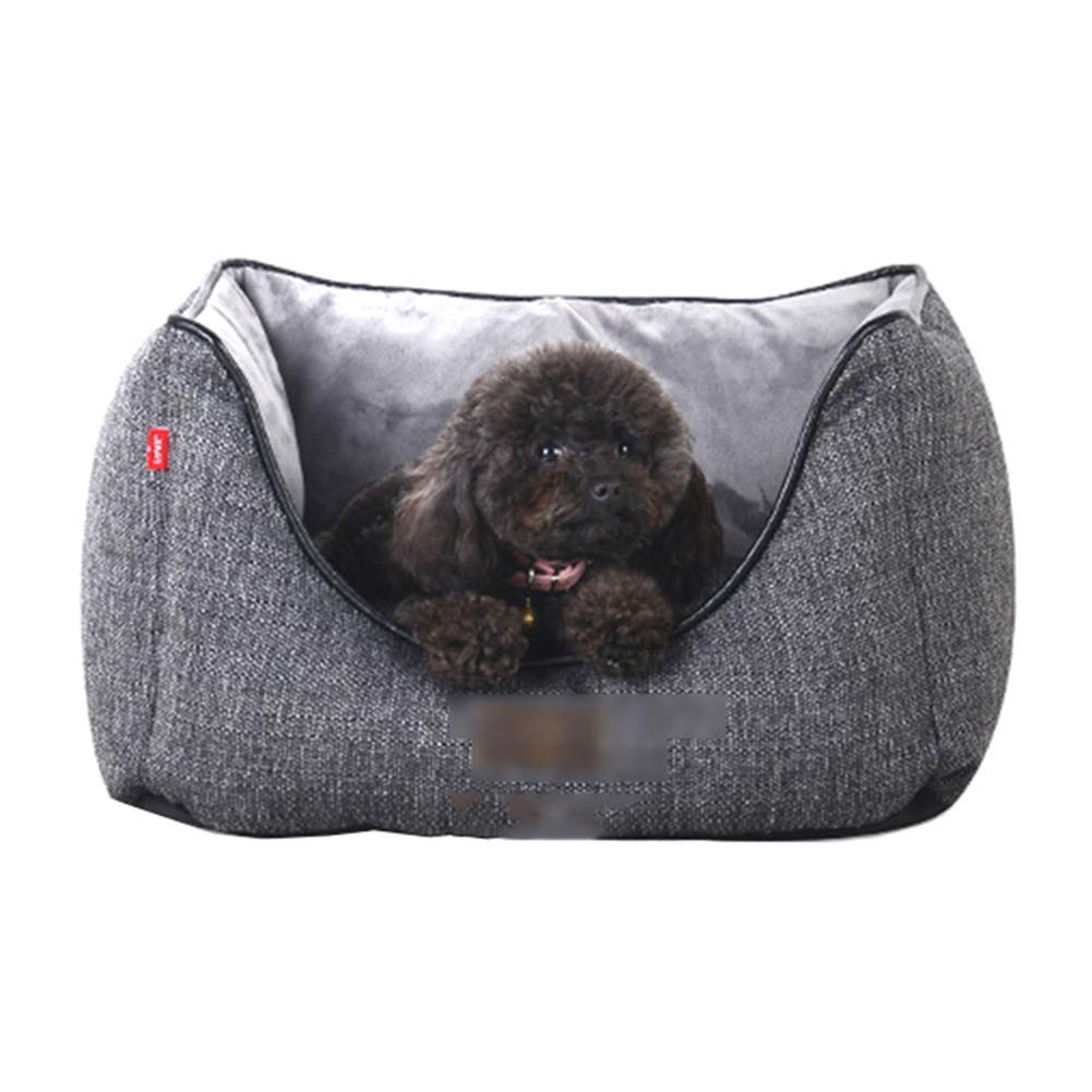 58×50×30cm Kennel Pads Dog Beds Doghouse High Wall Large, Medium and Small Dogs Pet Nest Fully Removable and Washable Sofa Comfortable Pet Bed Cat Bed Pet Supplies Cover (Size   58×50×30cm)