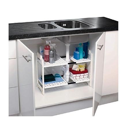 Addis Under Sink Storage Unit White Amazon Co Uk Kitchen Home