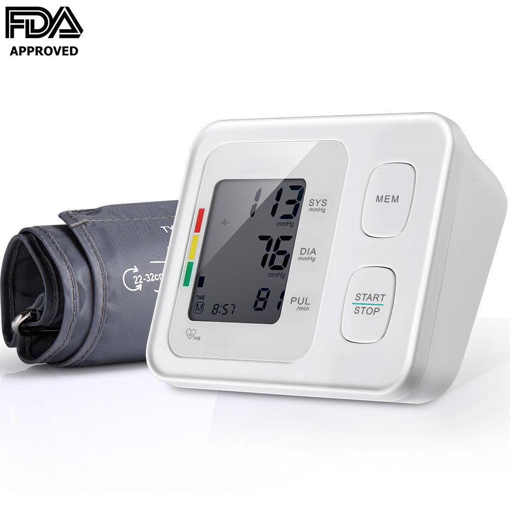 Automatic Digital Upper Arm Blood Pressure Monitor with Cuff, Accurate,Large Screen Display,Irregular Heartbeat Indicator,2 User Mode,FDA Approved Blood Pressure Machine by Firhealth