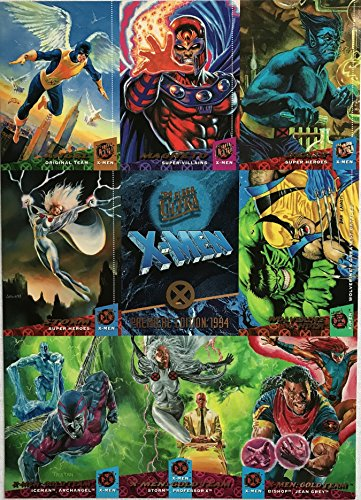 ('95 Fleer Ultra X-Men Premiere Edition 9-Up Promo Card Sheet)