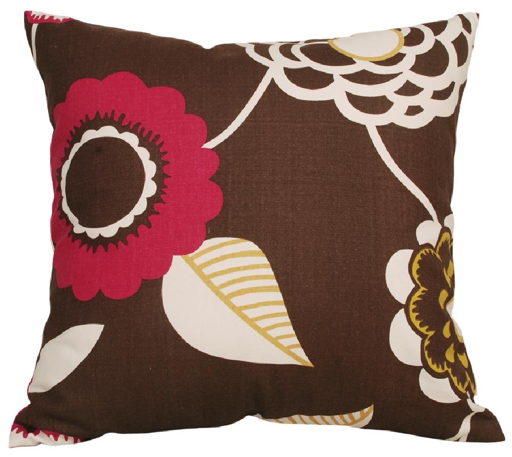 - 22x22 TangDepot.com COMIN18JU004723 TangDepot Decorative Handmade Floral Cotton Throw Pillow Covers //Pillow Shams - 22x22, Grey