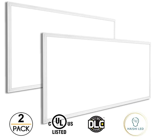 pretty nice 05432 e52c3 2 Pack Dimmable LED Panel Light 2x4 FT 72W (420W Equivalent) 6100 Lumens UL  and DLC Listed 5000K Daylight White