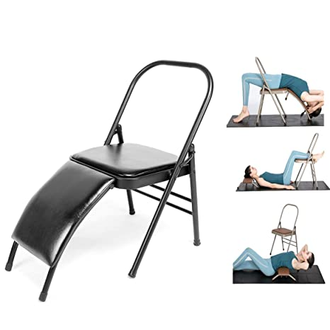 Amazon.com: Yoga Chair Head Stand, Reinforced Folding Yoga ...
