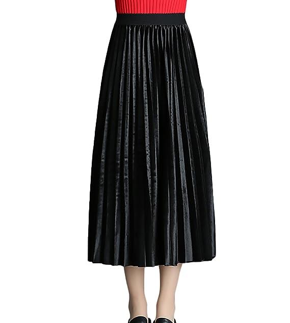 comprare on line 609a3 3fa89 Gonne Vita Alta Donna Elegante Classiche Unique Lunghi ...
