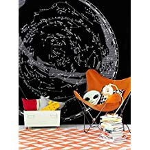 """Constellation Map Tapestry Fabric Wallpaper Bedspreads Dorm Decor,60""""x 60"""",Twin Size"""