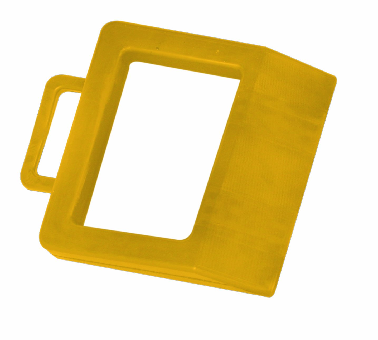 Wesco 272175 Hard Rubber High Visibility Pallet Truck Chock, 11-3/4'' Width x 2'' Height x 14'' Depth, Yellow