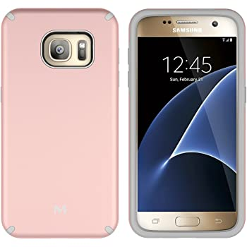 S7 Case, Galaxy S7 Case, MagicSky Slim Corner Protection Shock Absorption Hybrid Dual Layer Armor Defender Protective Case Cover for Samsung Galaxy S7 (Rose ...
