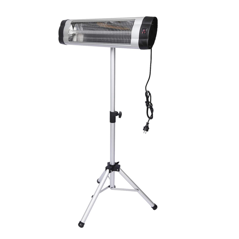 WilTec Radiador Calefactor por Infrarrojos 2000W con Mando a Distancia Estufa jard/ín Posible Montaje Pared