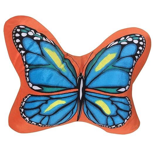 Dasior - Cojín de Peluche con Forma de Mariposa Decorativo ...