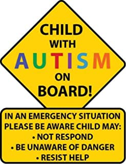 Autism Awareness Sticker Car Safety Decal for Child in Vehicle Car Truck Van SUV Custom Die Cut