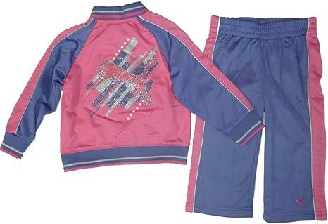 Puma Chándal para bebé niña Outfit Chaqueta + Pantalón Rosa Lila ...