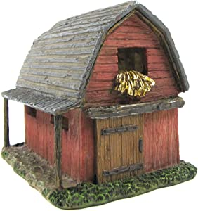 TG,LLC Treasure Gurus Miniature Red Barn Fairy Garden House Accessory Mini Dollhouse Decor Outdoor Gnome Home Ornament