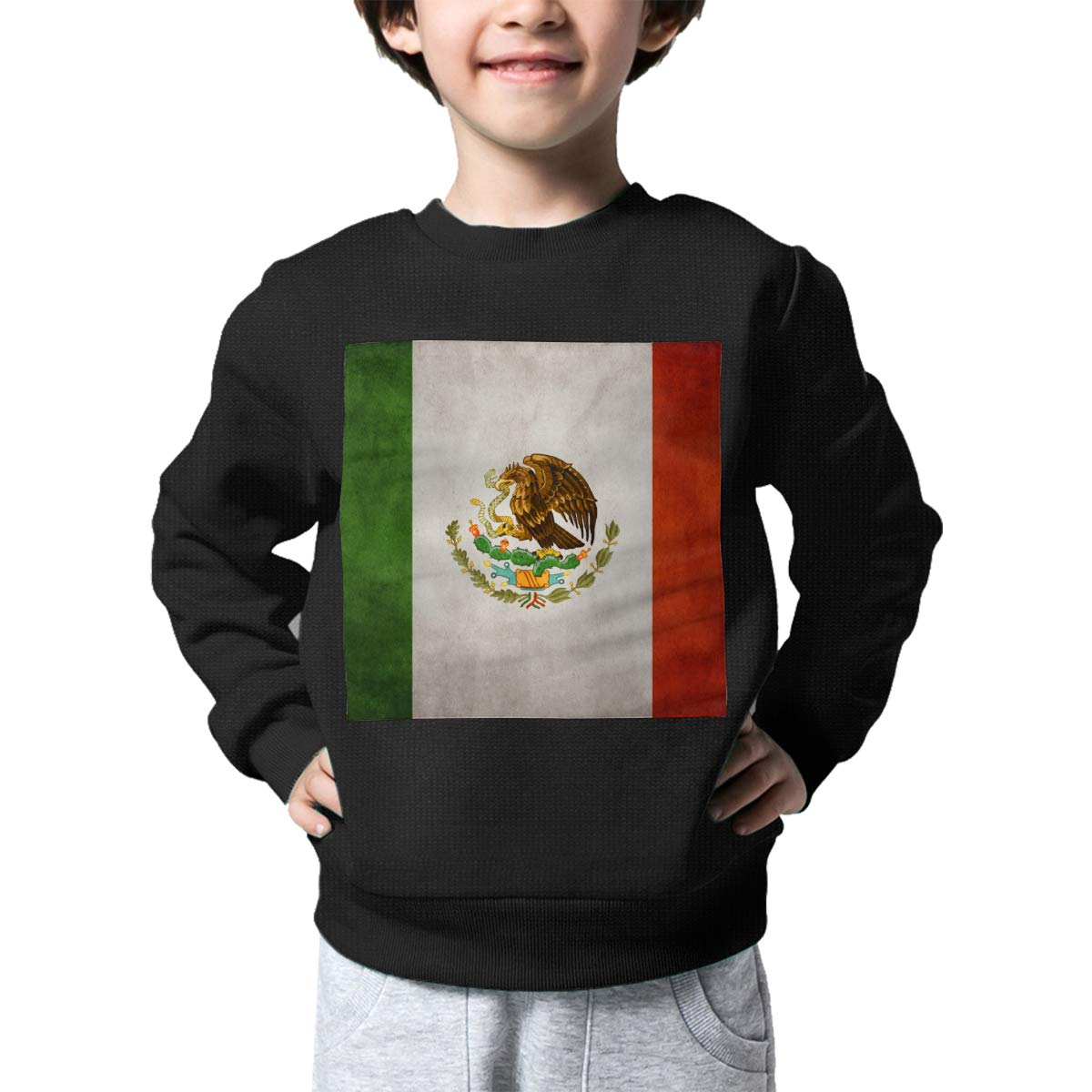 Boys Girls Vintage Mexico Flag Lovely Sweaters Soft Warm Unisex Children Kids Sweater