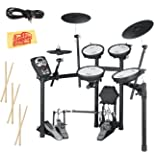 Roland TD-11KV V-Drums Electronic Drum Kit with Drum Stick Sampler, Audio Cable, and Austin Bazaar Polishing Cloth