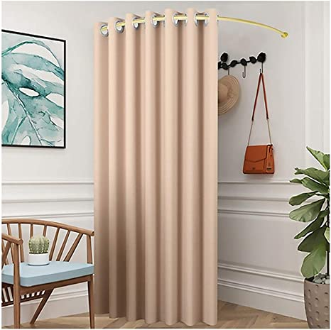 shaped curtain rod changing room