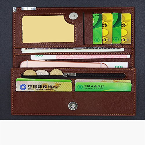 Large Slim Thin Minimalist Travel Passport Pocket Wallets Blocking Purse For Men PU Leather